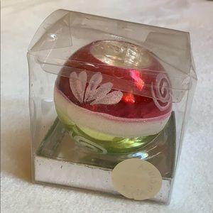 "2.5"" tealite candle 🕯 holder Christmas decor used"